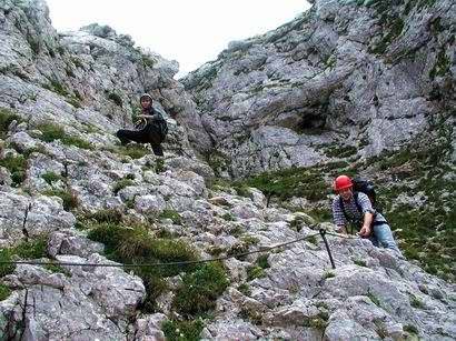 Klettersteig Rax : Klettersteig rax runde großes höllental bergsteigen